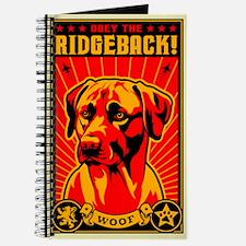 Obey the Rhodesian RIDGEBACK! Journal