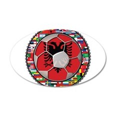 Albania Flag World Cup Football Soccer Ball Wall Decal