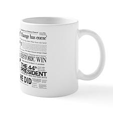 Obama Historic Headline Colla Mug