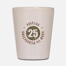 25th Vintage birthday Shot Glass
