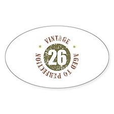 26th Vintage birthday Decal