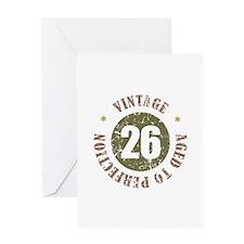 26th Vintage birthday Greeting Card