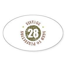 28th Vintage birthday Decal