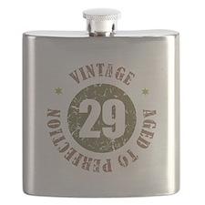 29th Vintage birthday Flask
