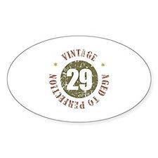 29th Vintage birthday Decal