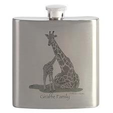 Giraffe Family Flask