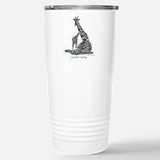 Giraffe Family Stainless Steel Travel Mug