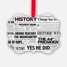 Obama Victory Collage Ornament