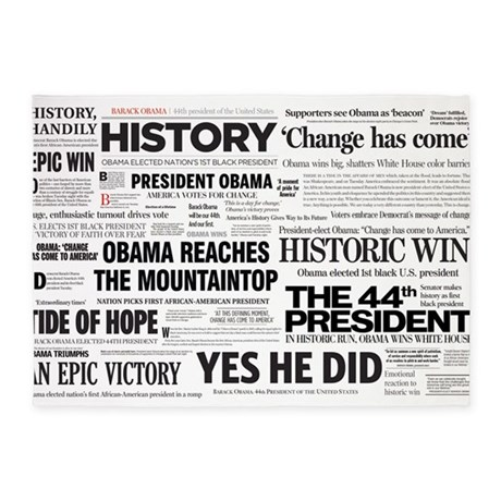 Obama Victory Collage 5'x7'Area Rug