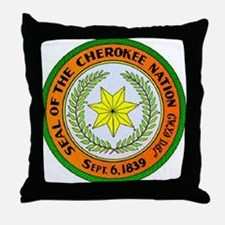 MIGHTY CHEROKEE NATION Throw Pillow