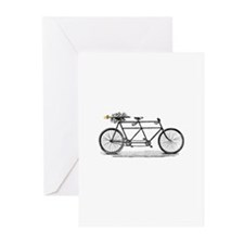 Tandem Bike Christmas Greeting Cards (Pk of 10)
