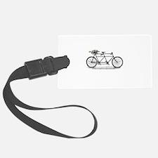 Tandem Bike Christmas Luggage Tag