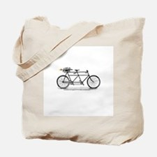 Tandem Bike Christmas Tote Bag