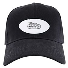 Tandem Bike Christmas Baseball Hat