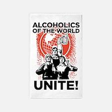 Alcoholics Unite 3'x5' Area Rug