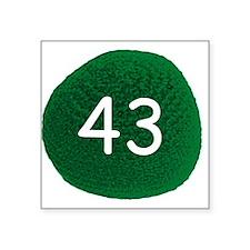 "Sheldon's Hacky Sack Record Square Sticker 3"" x 3"""