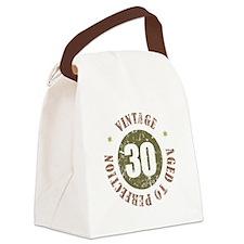 30th Vintage birthday Canvas Lunch Bag