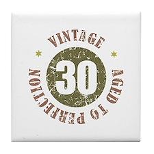 30th Vintage birthday Tile Coaster