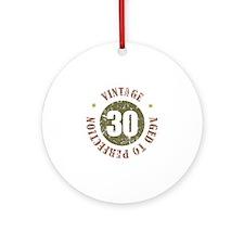 30th Vintage birthday Ornament (Round)