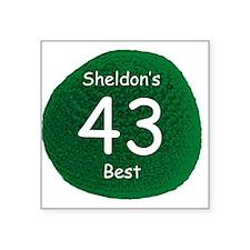"Sheldon's Personal Best Square Sticker 3"" x 3"""