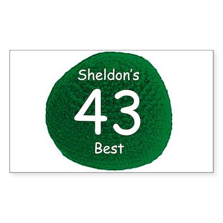 Sheldon's Personal Best Sticker (Rectangle)