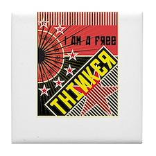 free thinker Tile Coaster