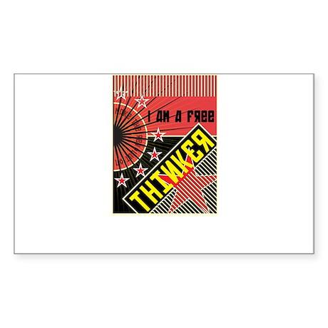 free thinker Sticker (Rectangle)