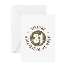 31st Vintage birthday Greeting Card