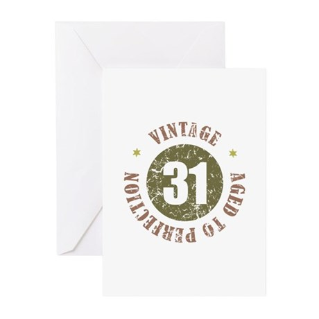 31st Vintage birthday Greeting Cards (Pk of 10)