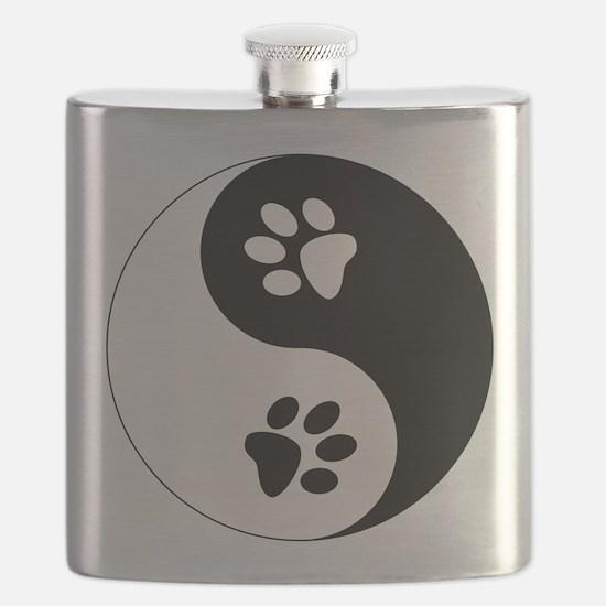 Yin Yang Paws Flask