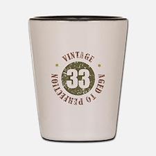 33rd Vintage birthday Shot Glass