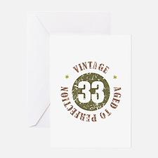 33rd Vintage birthday Greeting Card