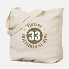 33rd Vintage birthday Tote Bag