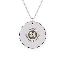 34th Vintage birthday Necklace