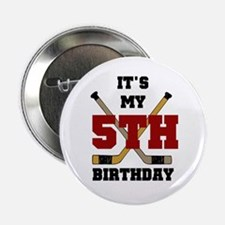 Hockey 5th Birthday Button