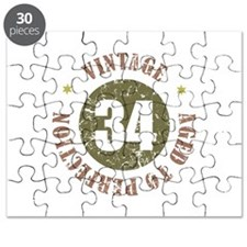 34th Vintage birthday Puzzle