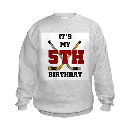 Hockey 5th Birthday Kids Sweatshirt