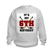 Hockey 6th Birthday Sweatshirt