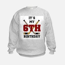 Hockey 6th Birthday Sweatshirt