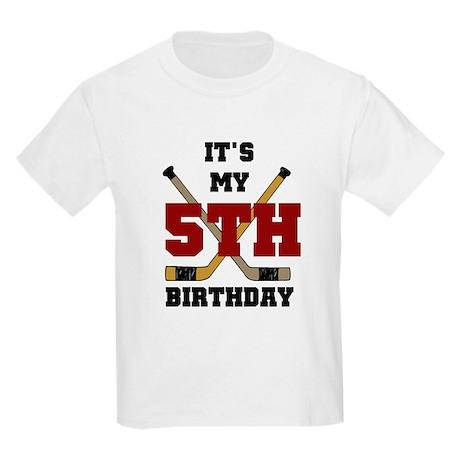 Hockey 5th Birthday Kids T-Shirt