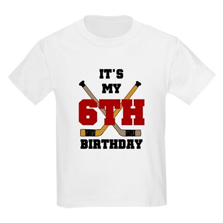 Hockey 6th Birthday Kids T-Shirt