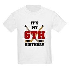 Hockey 6th Birthday Kids T-Shirt