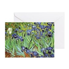 Irises by Vincent van Gogh Greeting Cards (Pk of 1
