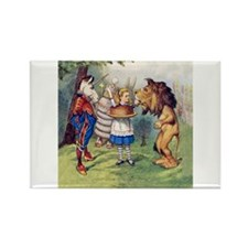 The Lion and The Unicorn Rectangle Magnet (100 pac