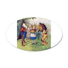 The Lion and The Unicorn Oval Car Magnet