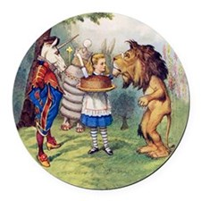 The Lion and The Unicorn Round Car Magnet