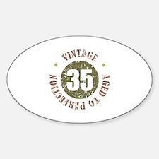 35th Vintage birthday Decal
