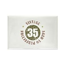 35th Vintage birthday Rectangle Magnet
