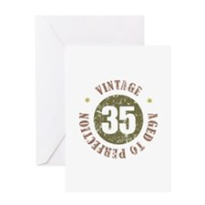 35th Vintage birthday Greeting Card