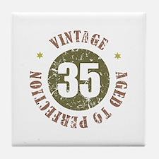 35th Vintage birthday Tile Coaster